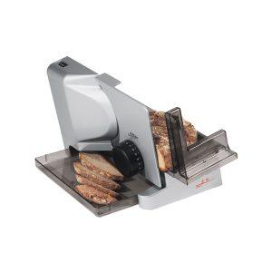 Elektrischer Allesschneider mit Brot