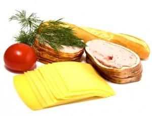 Käse und Fleisch